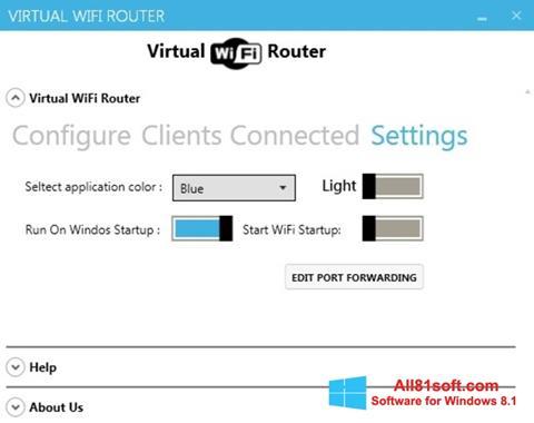Captura de pantalla Virtual WiFi Router para Windows 8.1