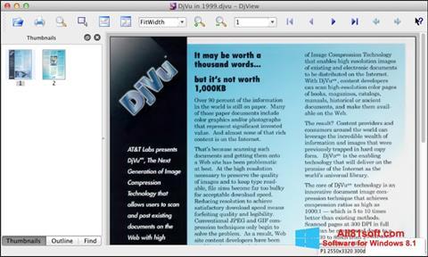 Captura de pantalla DjView para Windows 8.1