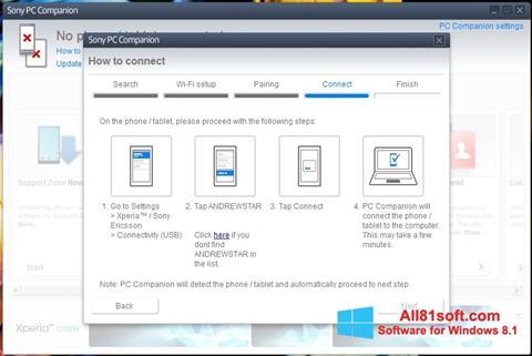 Captura de pantalla Sony PC Companion para Windows 8.1