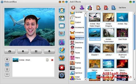 Captura de pantalla WebcamMax para Windows 8.1