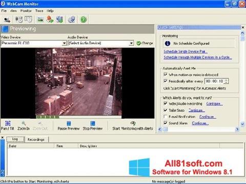 Captura de pantalla WebCam Monitor para Windows 8.1