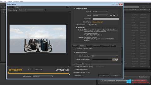 Captura de pantalla Adobe Media Encoder para Windows 8.1