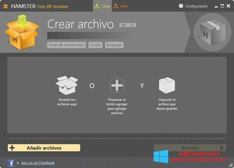 Captura de pantalla Hamster Free ZIP Archiver para Windows 8.1