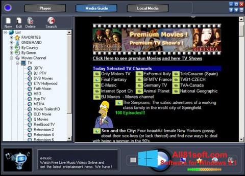 Captura de pantalla Online TV Live para Windows 8.1