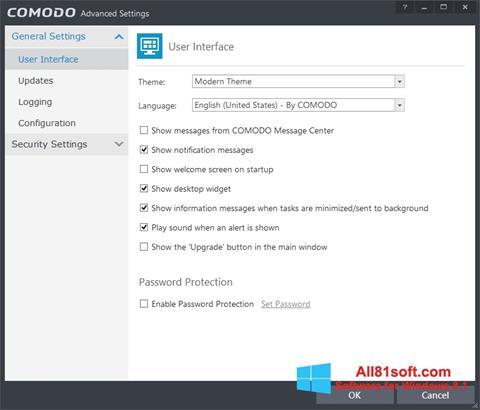 Captura de pantalla Comodo Internet Security para Windows 8.1