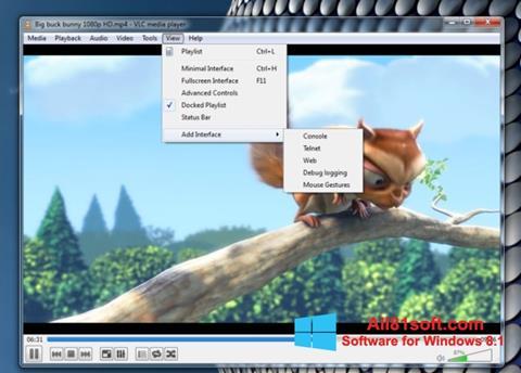 Captura de pantalla VLC Media Player para Windows 8.1