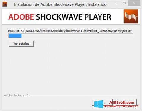 Captura de pantalla Shockwave Player para Windows 8.1