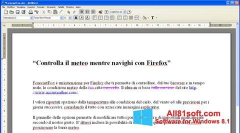 Captura de pantalla AbiWord para Windows 8.1