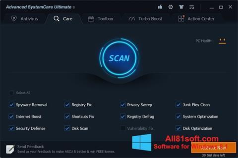 Captura de pantalla Advanced SystemCare Ultimate para Windows 8.1