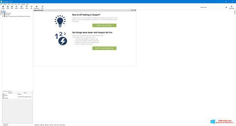 Captura de pantalla SoapUI para Windows 8.1