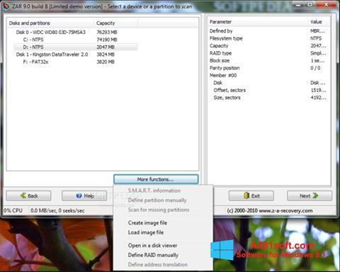 Captura de pantalla Zero Assumption Recovery para Windows 8.1