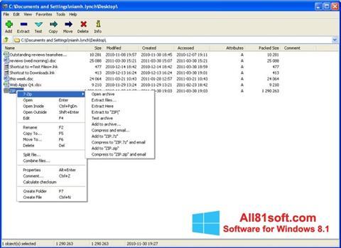 Captura de pantalla 7-Zip para Windows 8.1