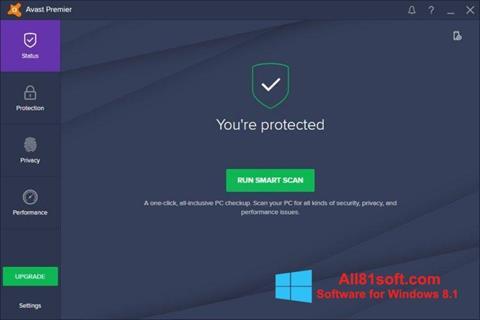 Captura de pantalla Avast Premier para Windows 8.1