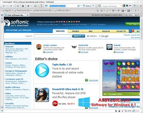 Captura de pantalla Lunascape para Windows 8.1