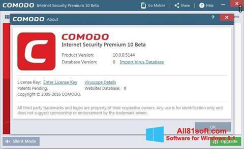Captura de pantalla Comodo para Windows 8.1
