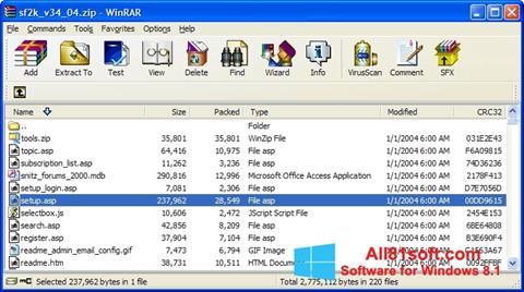 Captura de pantalla WinRAR para Windows 8.1