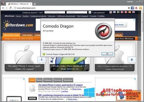Captura de pantalla Comodo Dragon para Windows 8.1