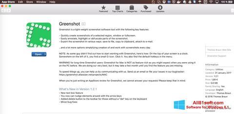 Captura de pantalla Greenshot para Windows 8.1