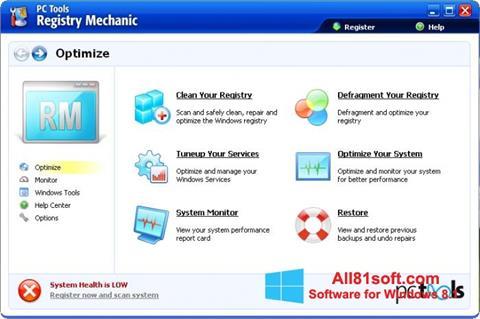 Captura de pantalla Registry Mechanic para Windows 8.1