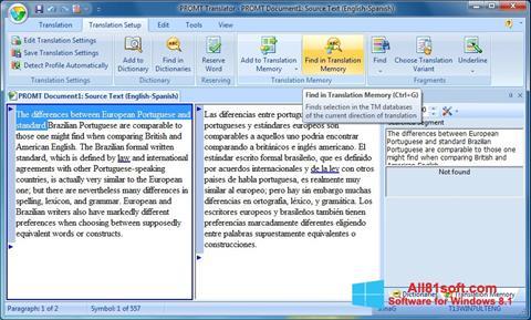 Captura de pantalla PROMT para Windows 8.1