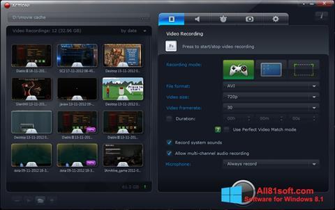 Captura de pantalla Action! para Windows 8.1