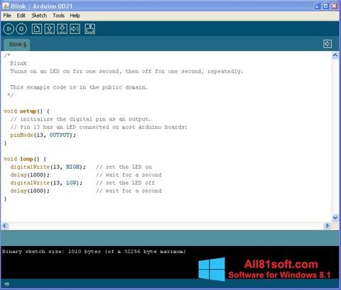 Captura de pantalla Arduino para Windows 8.1
