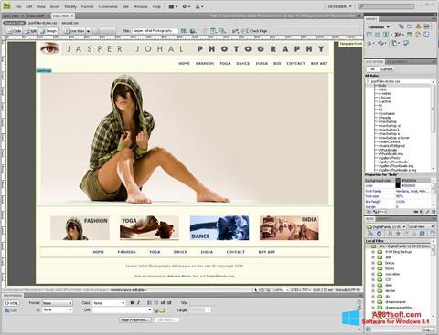 Captura de pantalla Adobe Dreamweaver para Windows 8.1