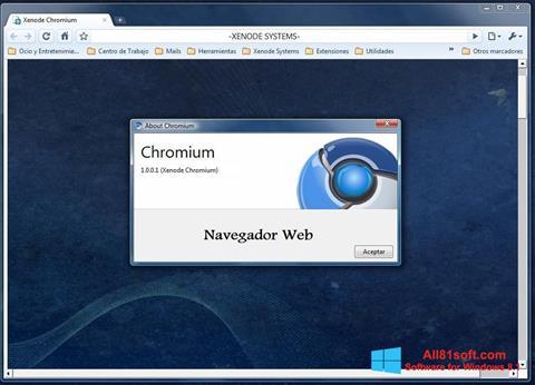 Captura de pantalla Chromium para Windows 8.1