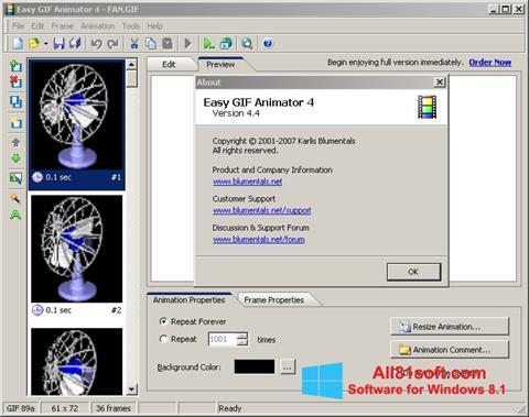 Captura de pantalla Easy GIF Animator para Windows 8.1