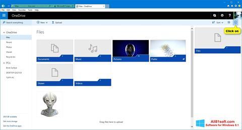 Captura de pantalla OneDrive para Windows 8.1