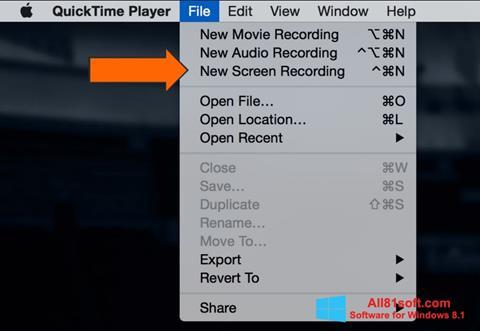 Captura de pantalla QuickTime para Windows 8.1