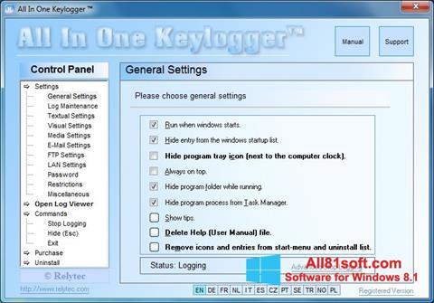 Captura de pantalla Keylogger para Windows 8.1