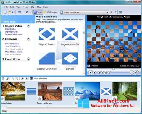 Captura de pantalla Windows Movie Maker para Windows 8.1