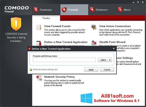 Captura de pantalla Comodo Firewall para Windows 8.1