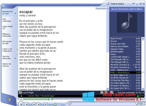 Captura de pantalla Windows Media Player para Windows 8.1