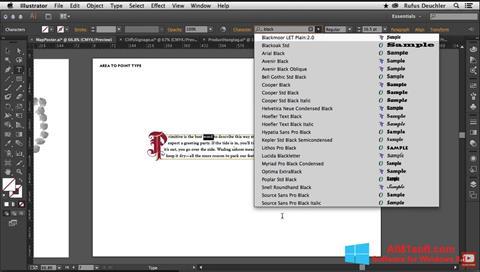 Captura de pantalla Adobe Illustrator para Windows 8.1