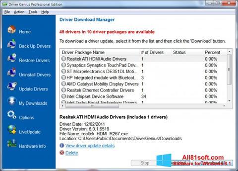 Captura de pantalla Driver Genius Professional para Windows 8.1