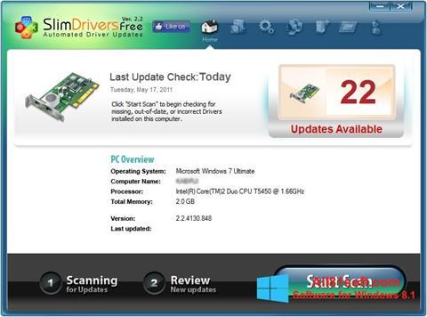 Captura de pantalla SlimDrivers para Windows 8.1