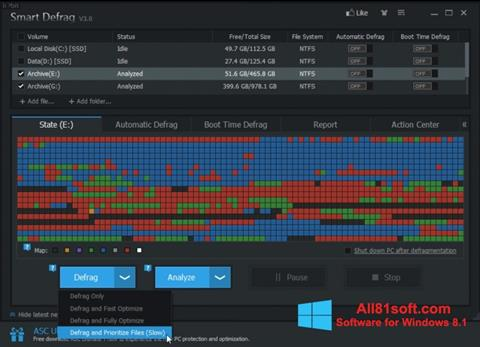 Captura de pantalla Smart Defrag para Windows 8.1
