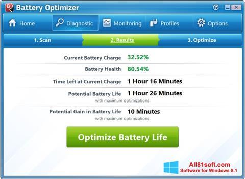 Captura de pantalla Battery Optimizer para Windows 8.1