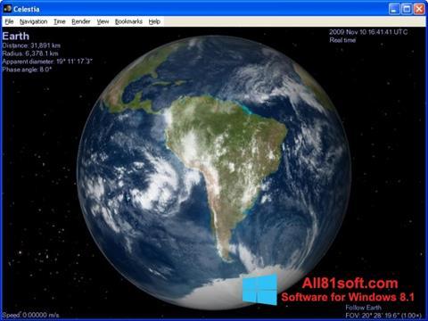 Captura de pantalla Celestia para Windows 8.1