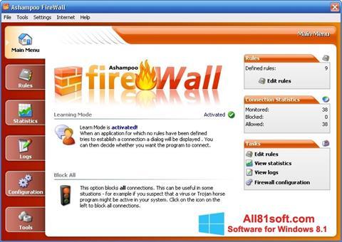Captura de pantalla Ashampoo Firewall para Windows 8.1