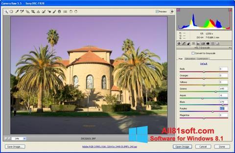 Captura de pantalla Adobe Camera Raw para Windows 8.1