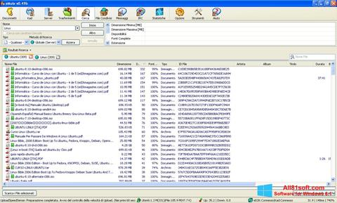 Captura de pantalla eMule para Windows 8.1
