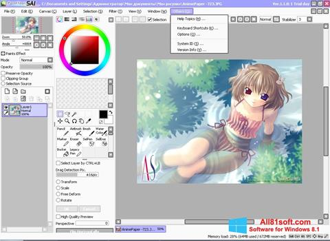 Captura de pantalla Paint Tool SAI para Windows 8.1