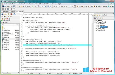 Captura de pantalla PSPad para Windows 8.1