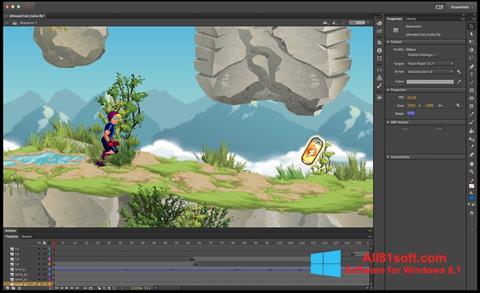 Captura de pantalla Adobe Flash Professional para Windows 8.1