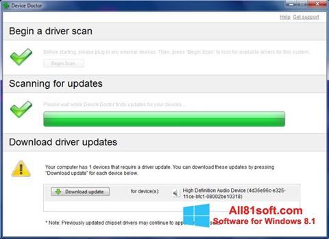 Captura de pantalla Device Doctor para Windows 8.1