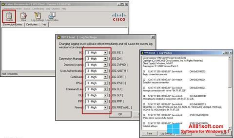 Captura de pantalla Cisco VPN Client para Windows 8.1