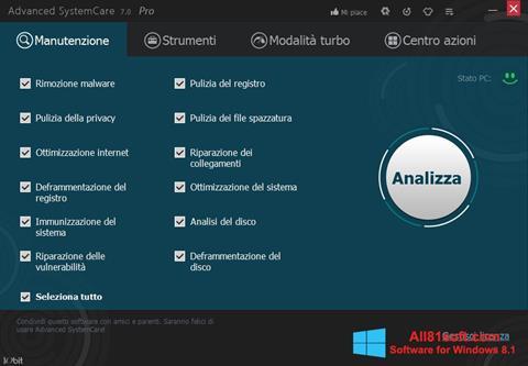 Captura de pantalla Advanced SystemCare Pro para Windows 8.1